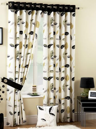 Black And Yellow Kitchen Curtains   Black And Yellow Eyelet Curtains