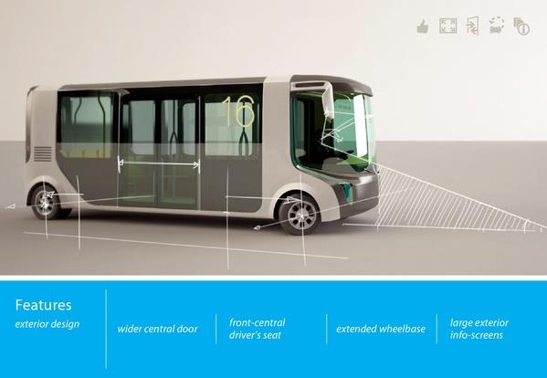 M8 city mini bus on the Behance Network