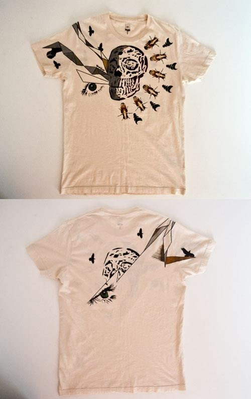 Hand painted t-shirt. More on www.sasadesign.com