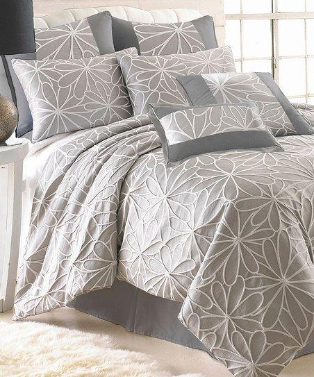 Taupe Jacquard Kate Comforter Set