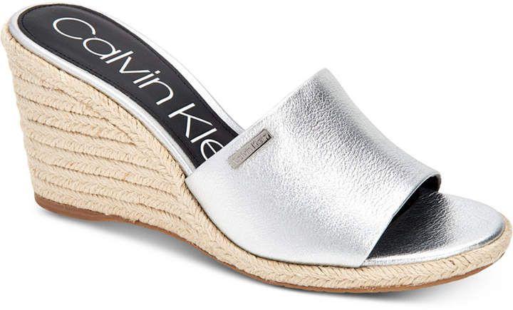Calvin Klein Women's Britta Wedge Sandals, Created For