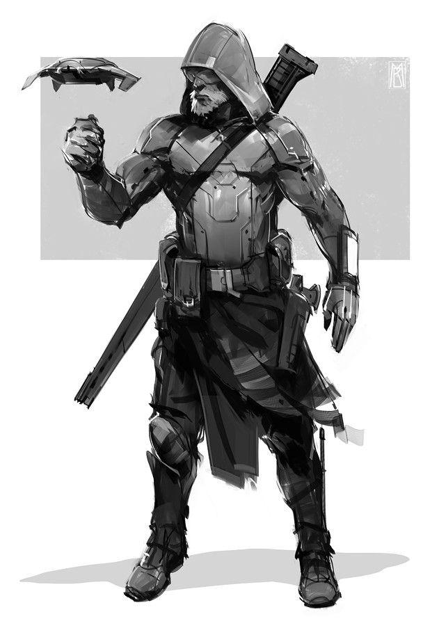 Futuristic assassin - ...