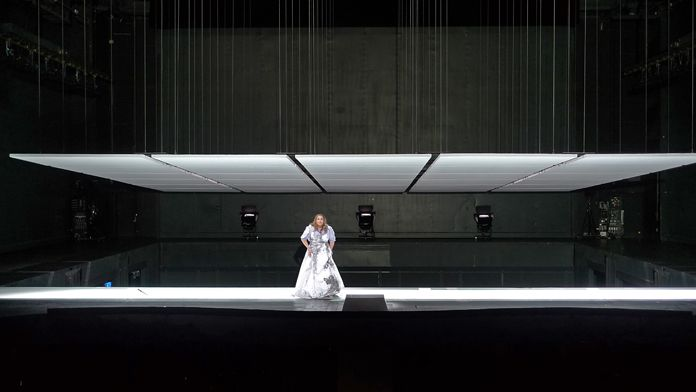 "Klaus Grünberg, set design and lighting for ""Die Götterdämmerung"" directed by Barrie Kosky, 2010"