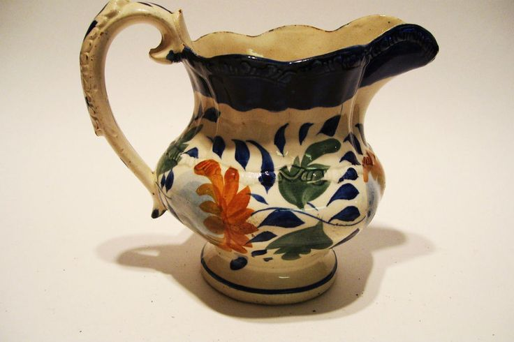 Antique Gaudy Welsh Pitcher Jug 5.5 inches Tall 19th Century #GaudyWelsh  $109,95 Includes FREE USA and Canada Shipping!