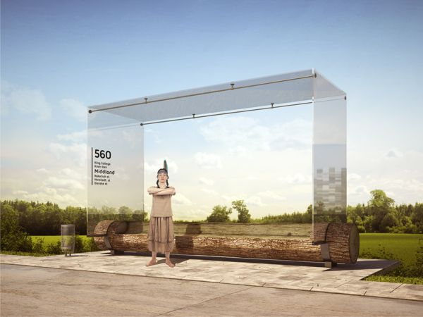 Bus Stop by Anton Storozhev, via Behance