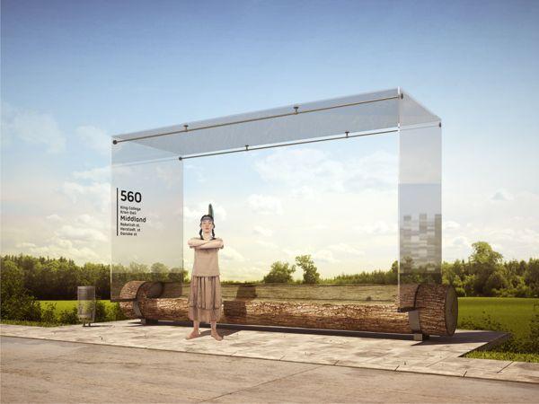 Bus Stop by Anton Storozhev, via Behance