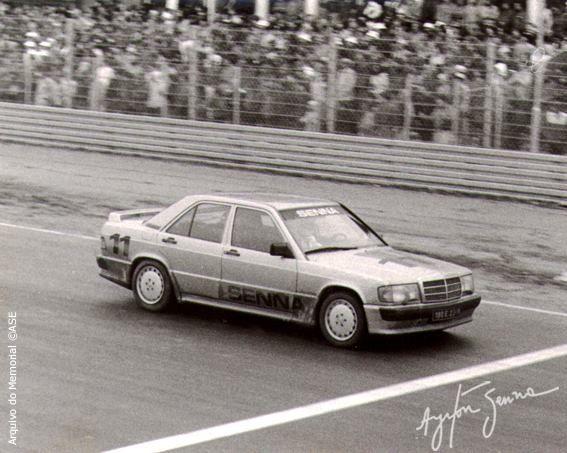 Em 1984, recém-contratado pela equipe Toleman, Senna foi convidado para participar da corrida que marcou a reinauguração do circuito de Nurburgring, na Alemanha.   No grid havia 21 modelos 190E 2.3 idênticos e pilotos bastante conhecidos do público, como Niki Lauda, Alain Prost, Keke Rosberg, Stirling Moss, entre outros.  Apesar do alto nível dos rivais, o novato Ayrton Senna não se intimidou e, com o carro número 11, venceu a corrida e ainda ganhou um carro como prêmio!