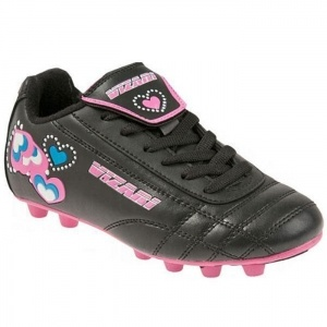 SALE - Kids Vizari Retro Hearts Soccer Cleats Black Leather - Was $23.99 - SAVE $4.00. BUY Now - ONLY $19.99