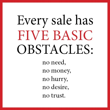 five basic obstacles