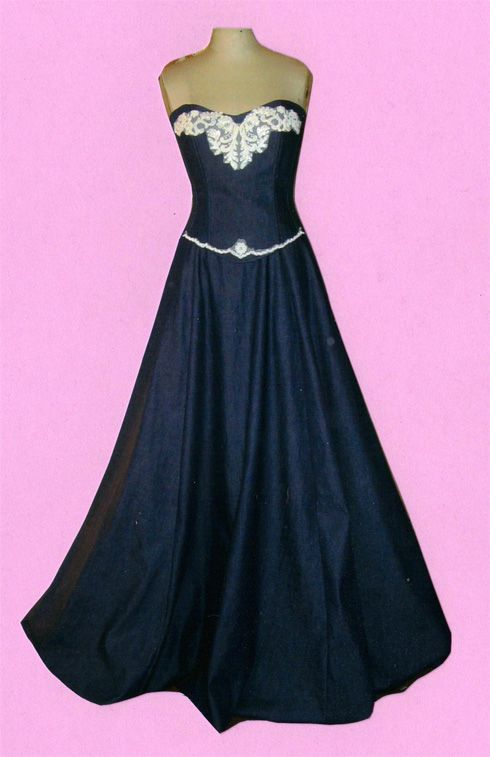 25 best ideas about denim wedding dresses on pinterest for Western denim wedding dresses