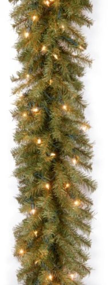 NEW Garland National Tree HOLIDAY Décor Green 9 X 10 Norwood Fir 50 Clear Lights #NationalTreeCompany