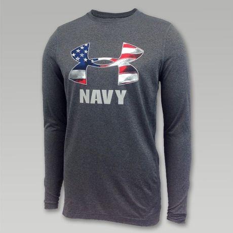 Under Armour Navy Flag Long Sleeve T