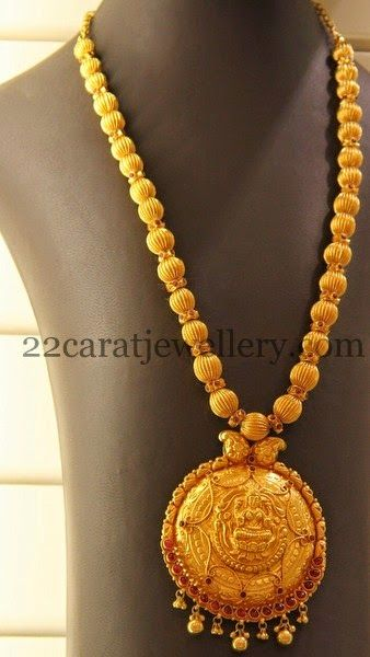 Gold Beads Old Haram Temple Jewellery Gold Necklace