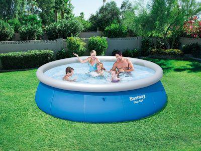 Bestway Fast Set 57319 piscina de 396 x 84 cm, 7.340 l por 69,95 €  Esta piscina elevada de aro hinchable, tiene un sencillo montaje y desmontaje. El mantenimiento es también cómodo y sencillo, al igual que el resto de piscinas desmontables Bestway. Cabe en cualquier lugar.   #chollo #ofertas #summer #Verano
