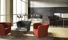 Multi-functional workspace, sophisticated yet whimsical #collaborative #workspace