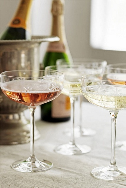 delicate champagne glasses {this is glamorous}, via Flickr