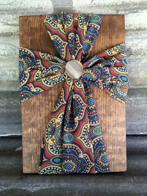 Fabric Wood Cross Home Decor By Distinctlyblackman On Etsy