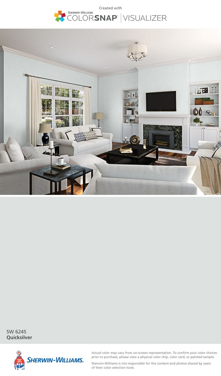 Paint colors for in bedroom traditional with exposed beams butter - I Found This Color With Colorsnap Visualizer For Iphone By Sherwin Williams Quicksilver