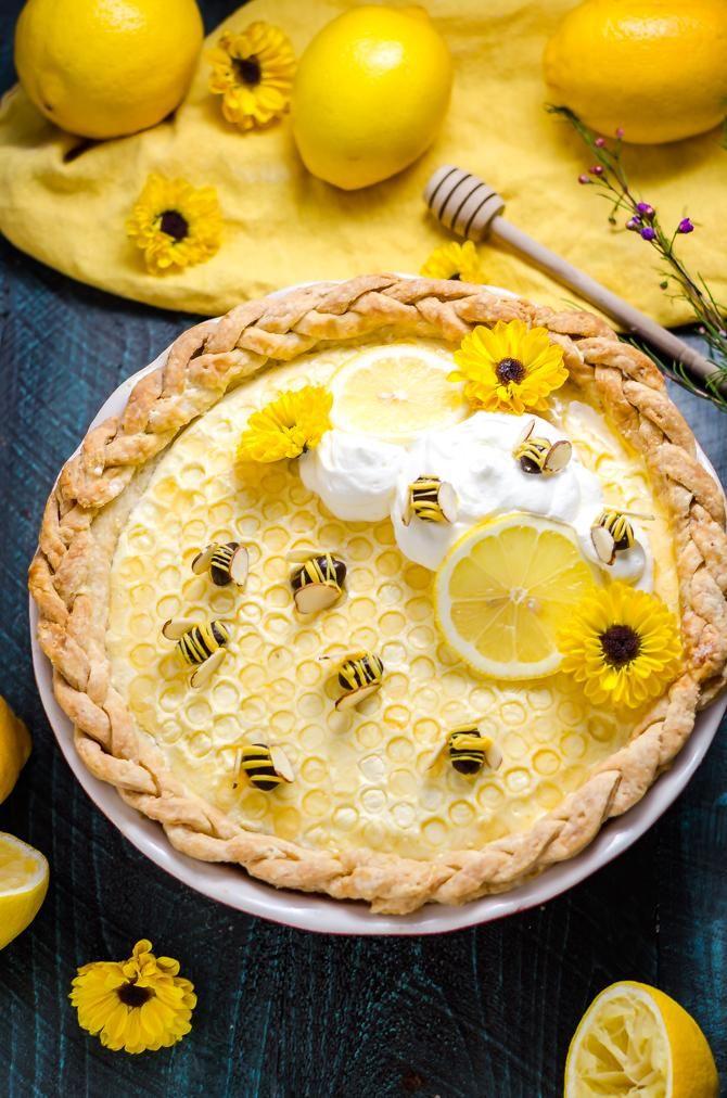 Happy Pi Day! I'll be celebrating with the last slice of this Honey Lemon Chiffon Pie. [OC] [670 x 1012]