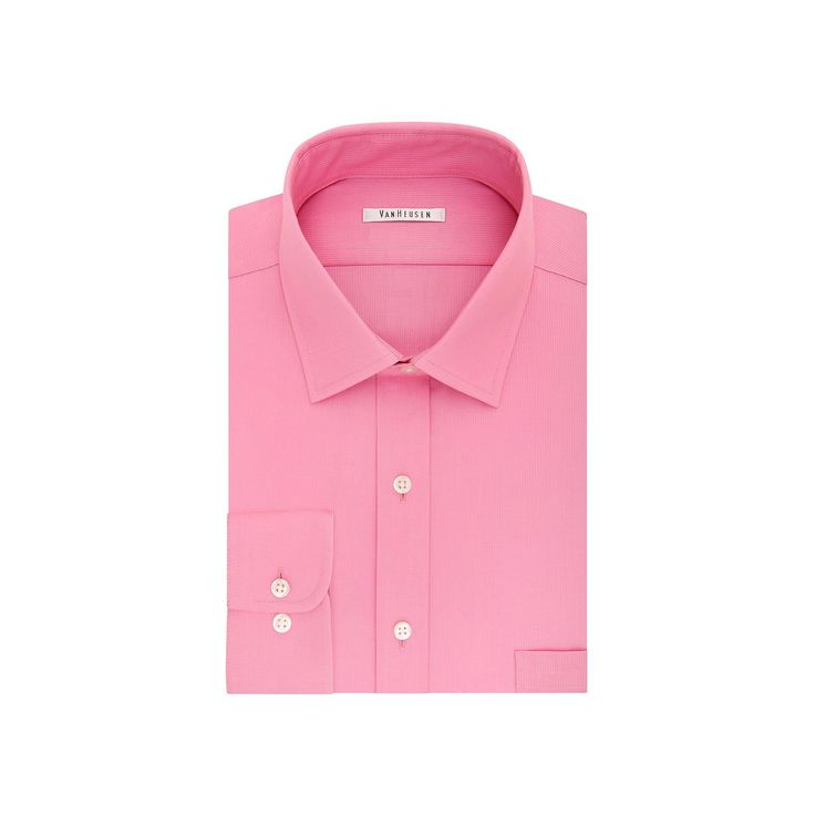 Big & Tall Van Heusen Regular-Fit Flex Collar Pincord Wrinkle-Free Dress Shirt, Men's, Size: 18-34/35, Light Pink