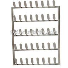 20 pair metal wall mounted shoe racks/metal shoe rack design/wall mounted wire shoe rack