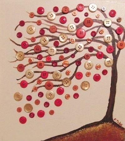 9 ideias para utilizar botões velhos na decoração