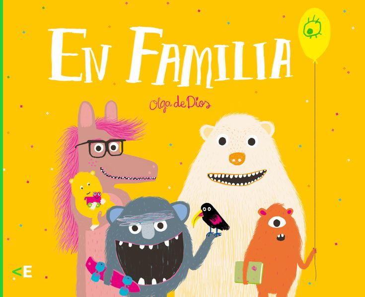 En familia.  Olga de Dios. Este libro muestra un día cualquiera en la vida de las familias que se enfrentan al reto de educar y de aprender. En familia es un recorrido por los derechos fundamentales de la infancia. Donde todas las voces cuentan.