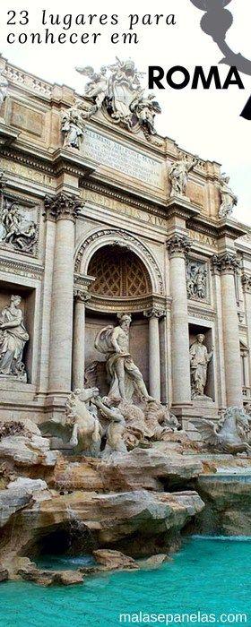 23 lugares para conhecer em Roma #roma