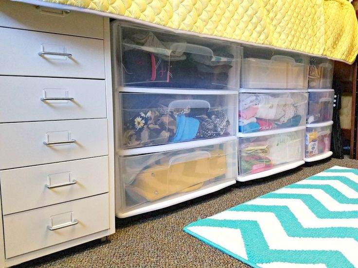 1020 best college two down two to go images on - Dorm underbed storage ideas ...