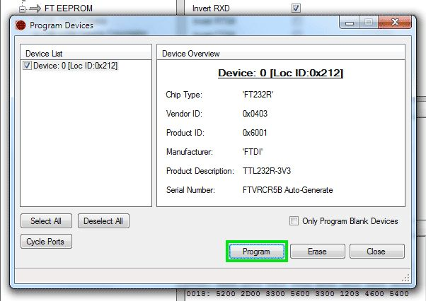 FRSKY's CPPM at 27mSec - Firmware update with FT_Prog and FTDI cable