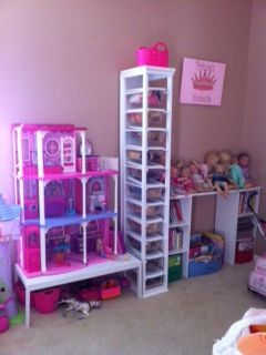 Barbie Doll Storage Cabinet Using Dollar Shoe Bo