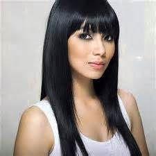 Model rambut wanita panjang dengan poni