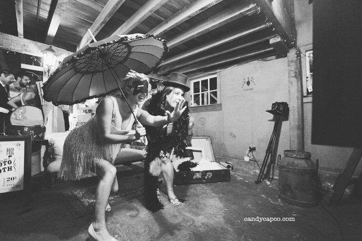 A vintage photobooth.    Photography by Candy Capco