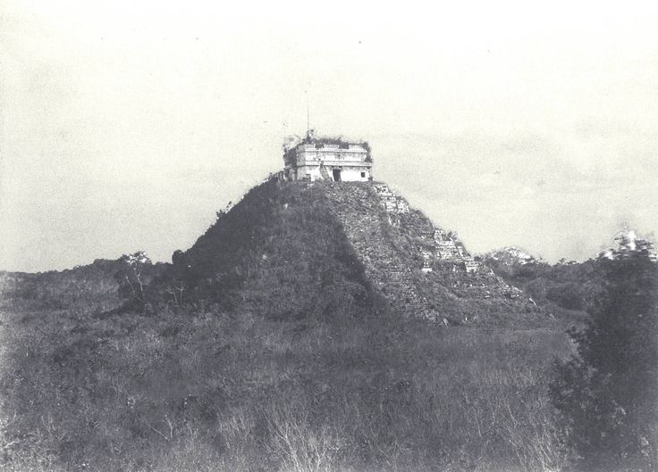 Chichen Itza, México en 1862, antes de su restauración