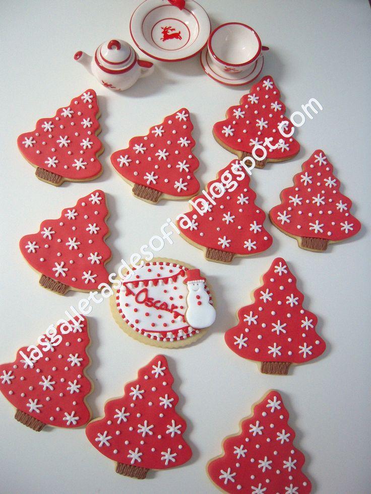 Dulces galletas navideñas. Chiristmas cookies. http://www.lasgalletasdesofia.blogspot.com