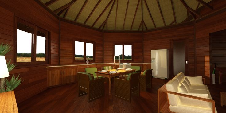 Octagonal Floor Plans: Sustainable Building materials: Tropical hardwoods are the planet's most environmentally responsible building material. Teak Bali is committed to reforest all hardwoods used in the manufacturing process.