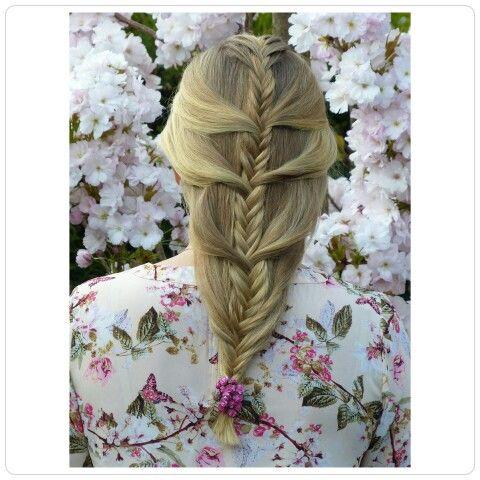 Romantische vlecht/ romantic braid. Hairstylist www.mooibijmaaike.nl