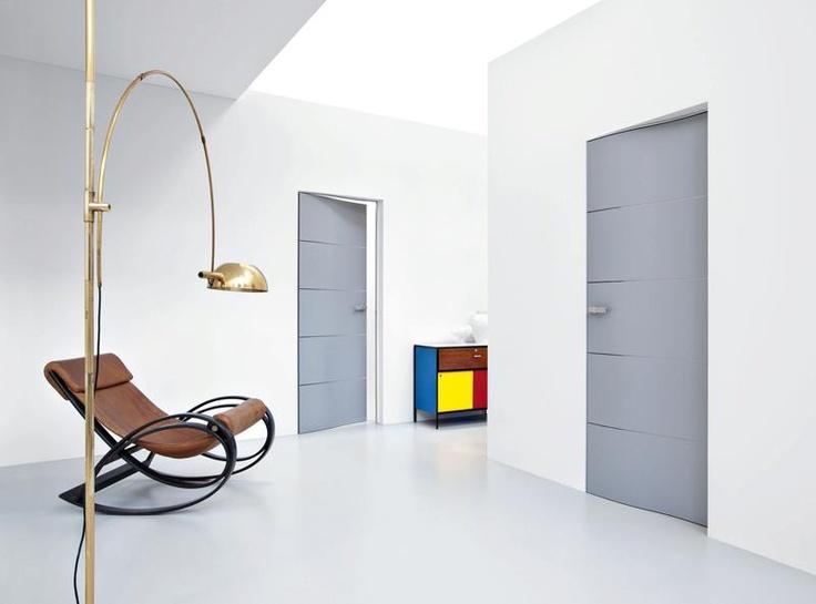 ESSE - Laqué gris mat    #door  #indoor  #porte