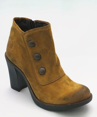Take a look at this Mustard Oiled Twix Ankle Boot by FLY London on #zulily today!
