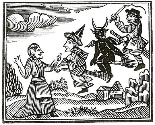The Lancashire Witches 1612-2012 | The Public Domain Review brujas volando por Matherts Wonders of the Invisible World