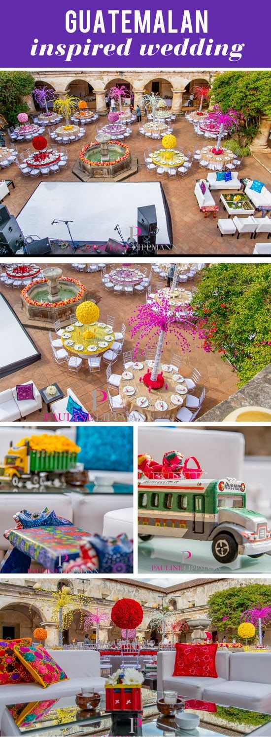 Look at these details!! I'm blown away at all the flowers and details, just amazing! - Pauline Lippmann Guatemalan Inspired Colorful Wedding in Guatemala