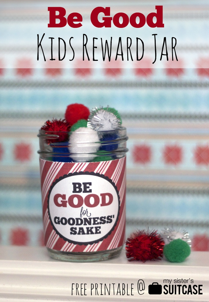 Christmas Reward Jar Printable | Christmas craft projects | Pinterest ...