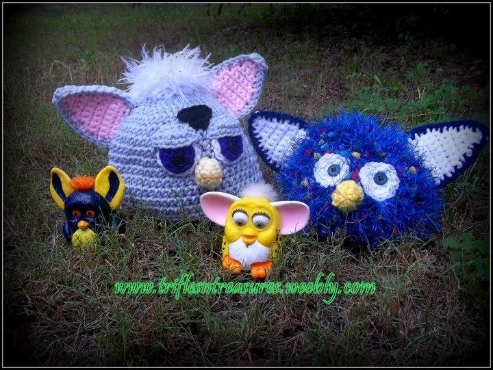 Crochet furby hat: Hat Crochet Patterns, Furby Pattern, Crochet Furby, Crochet Character Hats, Crochet Hats, Hat Patterns, Fuzzby Hat, Crocheted Hats, Crocheted Knitted Hats