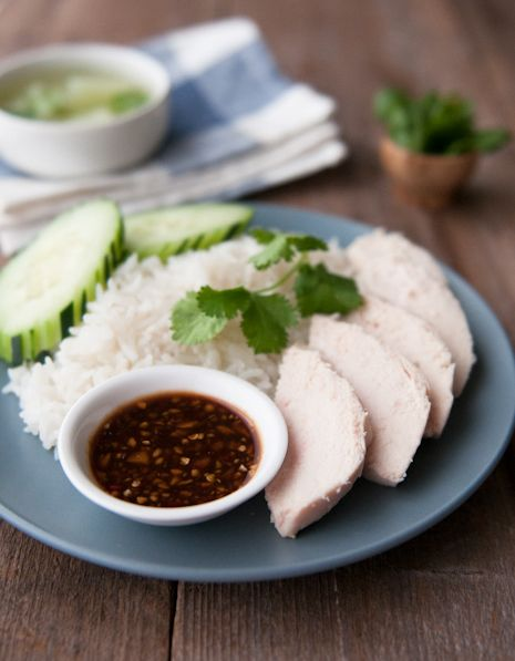 7 best thai rice dish recipes images on pinterest thai food thai chicken and rice recipe with spicy garlic ginger dipping sauce khao man gai forumfinder Gallery