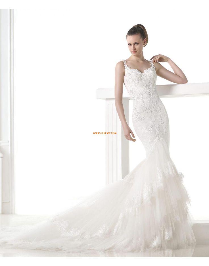 Traîne mi-longue Elégant & Luxueux Printemps Robes de mariée 2015