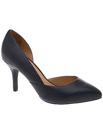 Sleek, sexy and fiercely feminine, our d'Orsay pump is a stunner! An elegant choice for work or weekend, this alluring statement shoe wows with a low cut instep, pointed toe and sophisticated stiletto heel. Wide width comfort lets you dance the night away. Now in half-sizes, too! lanebryant.com