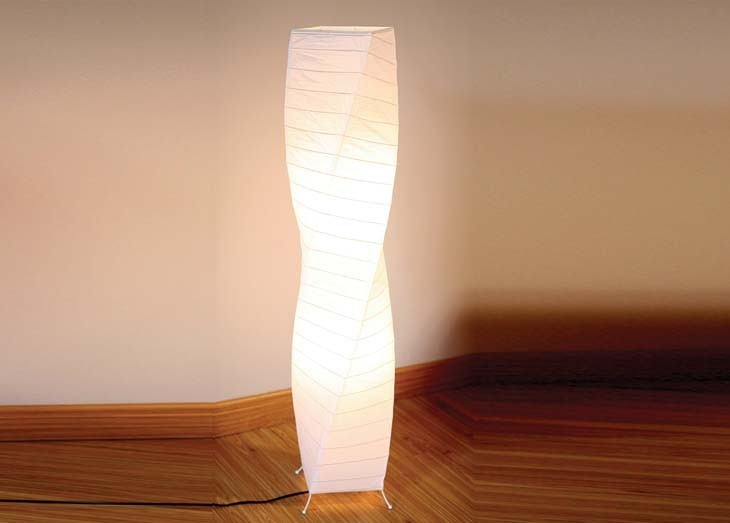 To Lighten Up A Dark Corner Timor Paper Floor Lamp