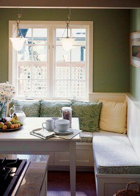 think i want a banquette in my kitchen. we have the space, just need hubs to get extra time to build...