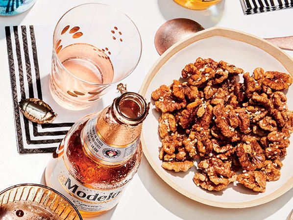 Maple-Sumac Roasted Walnuts | Here's a perfectly simple and delicious snack. A little sumac adds a bright piney-citrusy note. Look for it at specialty spice stores. A tablespoon of lemon rind can sub for sumac, if you prefer.