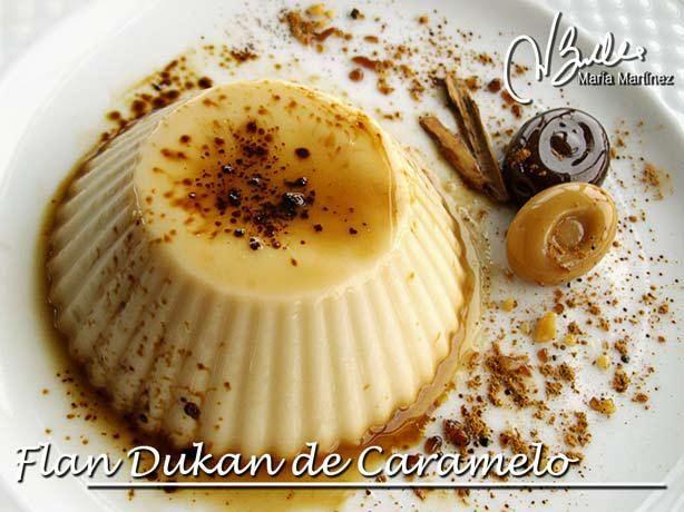 Flan Dukan de Caramelo (fase Ataque),  de RecetasDukanMariaMartinez.com